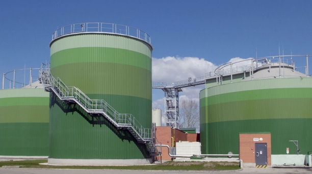 Biogas production – nearly 40 thousand m<sup>3</sup> of biogas is produced daily from sewage and wastes transported from outside.